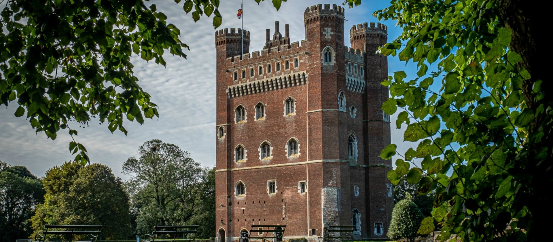 Tattershall Castle on a sunny day