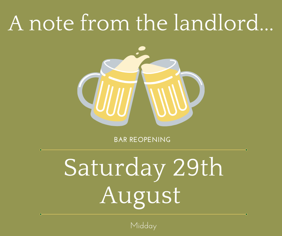 August News – Opening Soon
