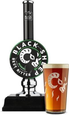 Black Sheep Brewery Best Bitter Pump and Glass