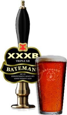Batemans Brewery Triple XB Pump and Glass